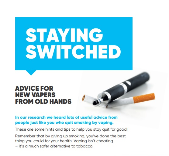 Staying Switched: Advice for new vapers from old hands